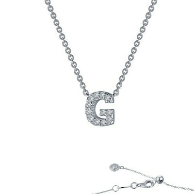 Letter G pendant necklace