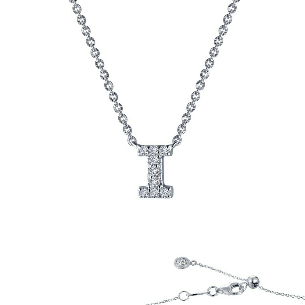 Letter I pendant necklace