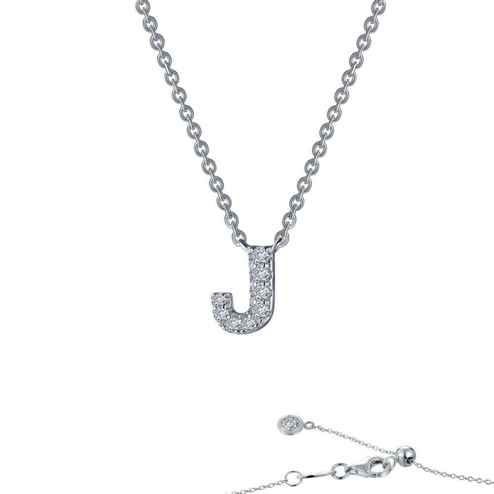 Letter J pendant necklace