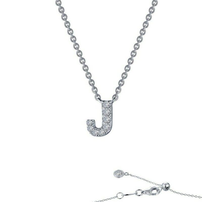 Letter J pendant necklace