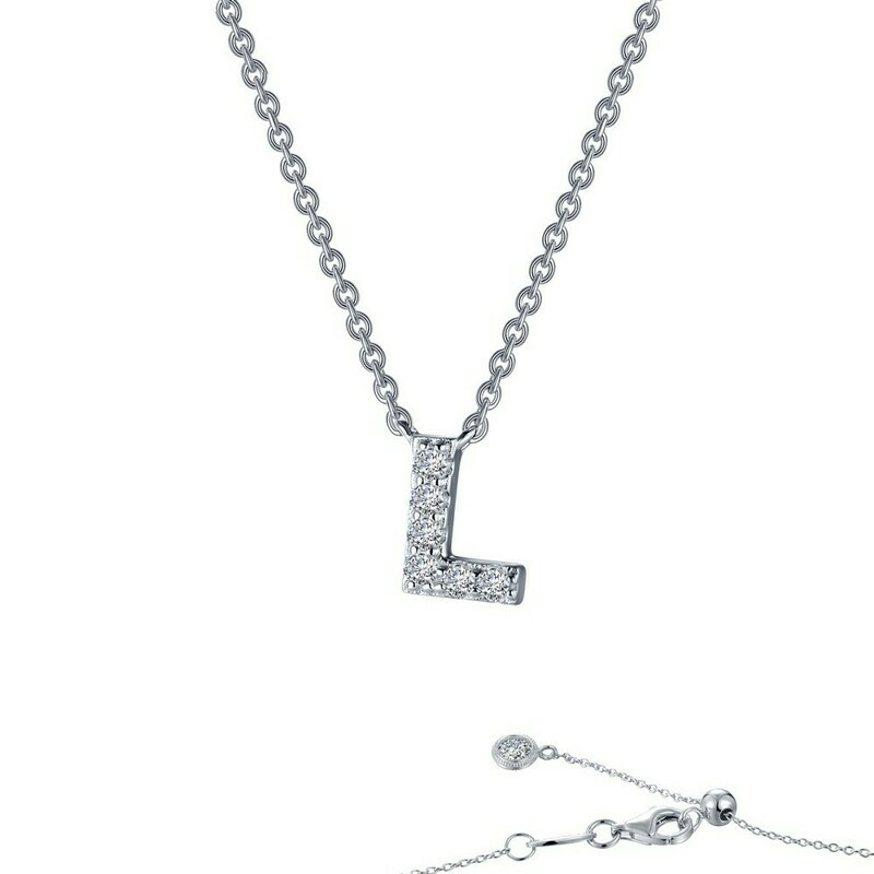 Letter L pendant necklace