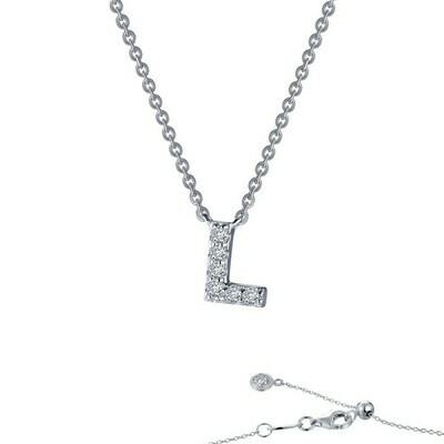 Letter L pendant necklace