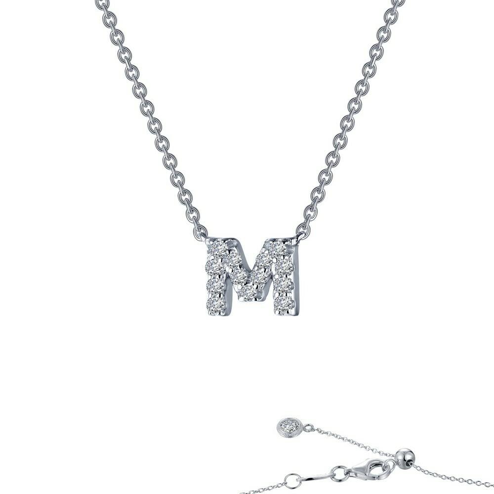 Letter M pendant necklace