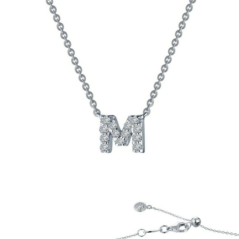 Letter M pendant necklace