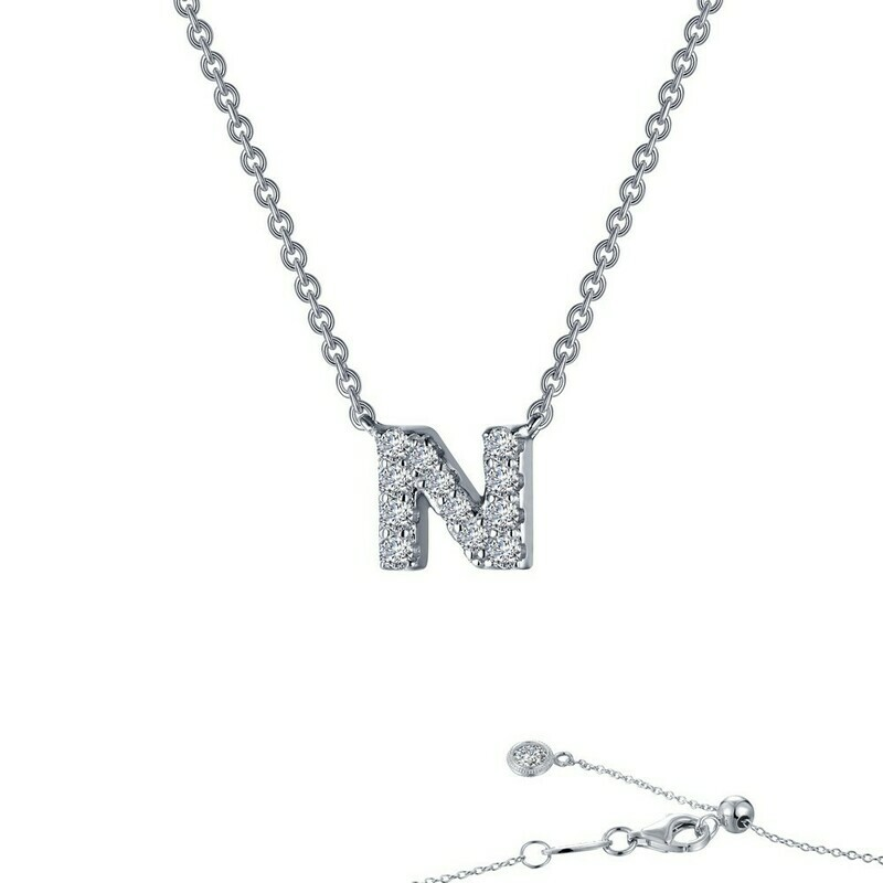 Letter N pendant necklace