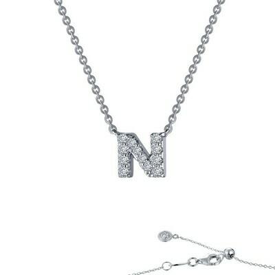 Letter N pendant necklace