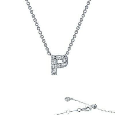 Letter P pendant necklace