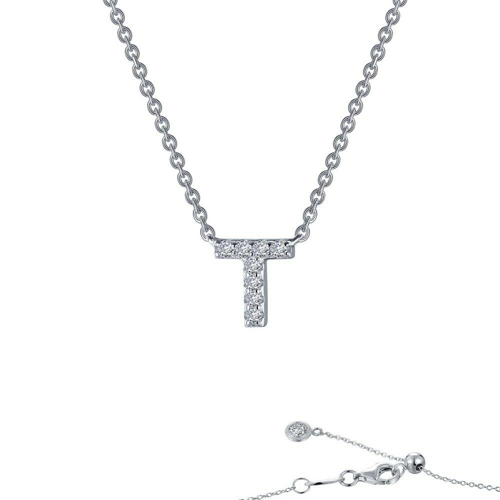 Letter T pendant necklace