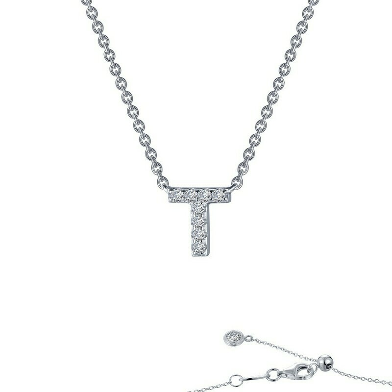 Letter T pendant necklace