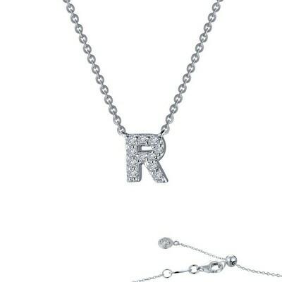 Letter R pendant necklace