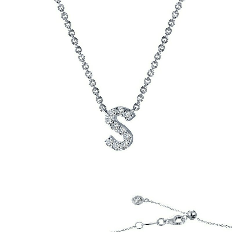 Letter S pendant necklace