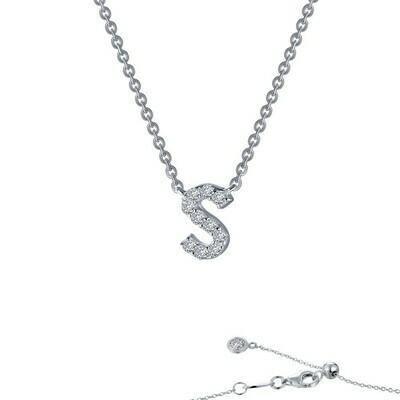 Letter S pendant necklace