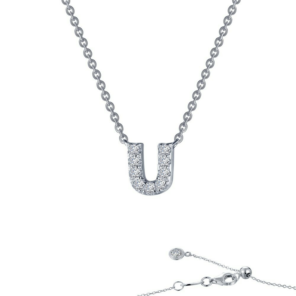 Letter U pendant necklace