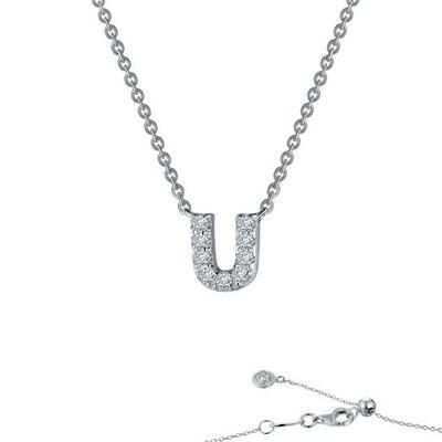 Letter U pendant necklace