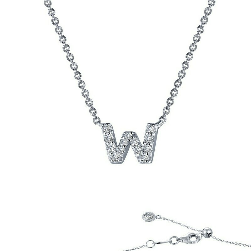 Letter W pendant necklace