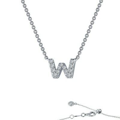 Letter W pendant necklace