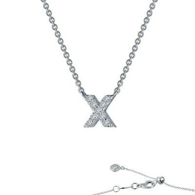 Letter X pendant necklace