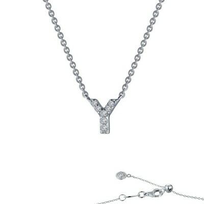 Letter Y pendant necklace