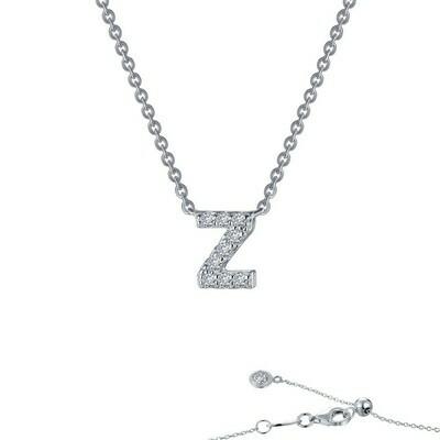 Letter Z pendant necklace