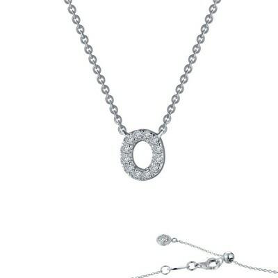Letter O pendant necklace