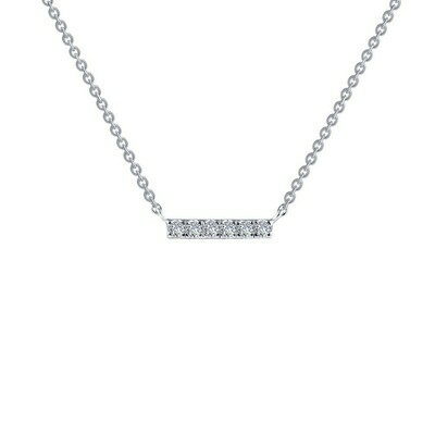 0.09 cttw Dainty Bar Necklace