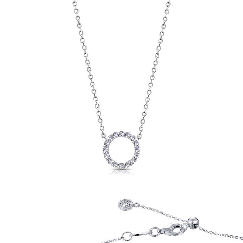 0.41 ct tw Open Circle Necklace