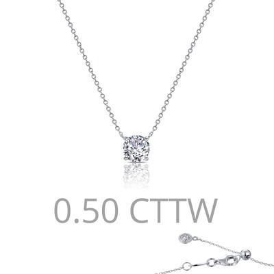 0.5 ct tw Solitaire Necklace