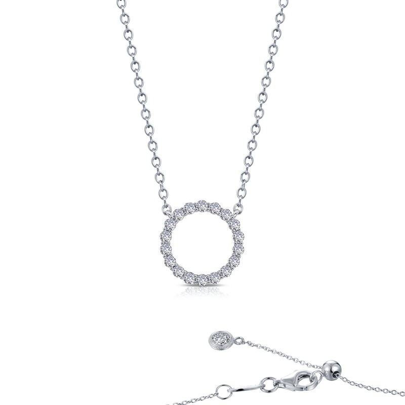 0.63 cttw Open Circle Necklace