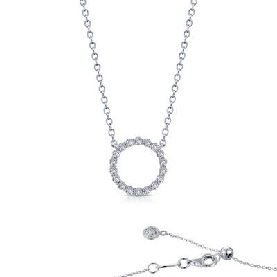 0.63 cttw Open Circle Necklace