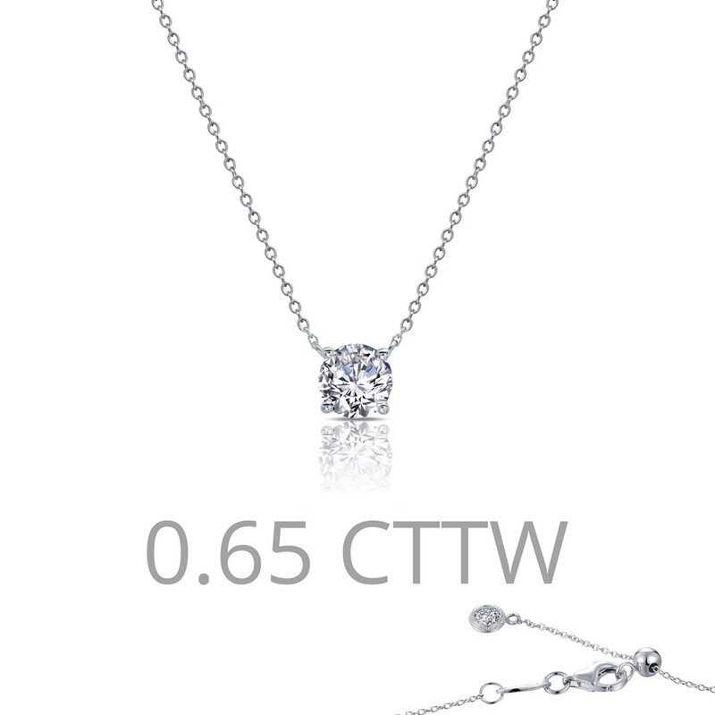 0.65 cttw Solitaire Necklace