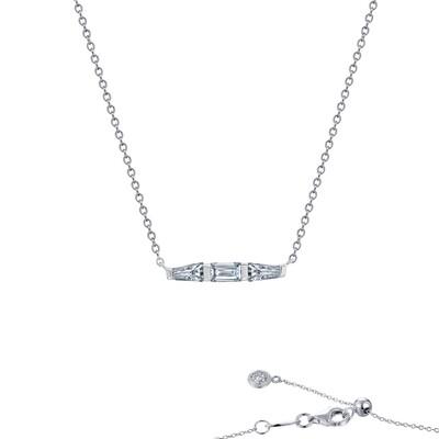0.84 cttw Baguette Bar Necklace