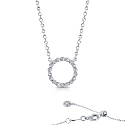 0.88 ct tw Open Circle Necklace