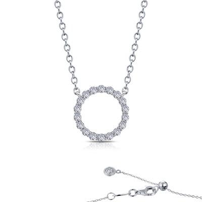 1.15 cttw Open Circle Necklace