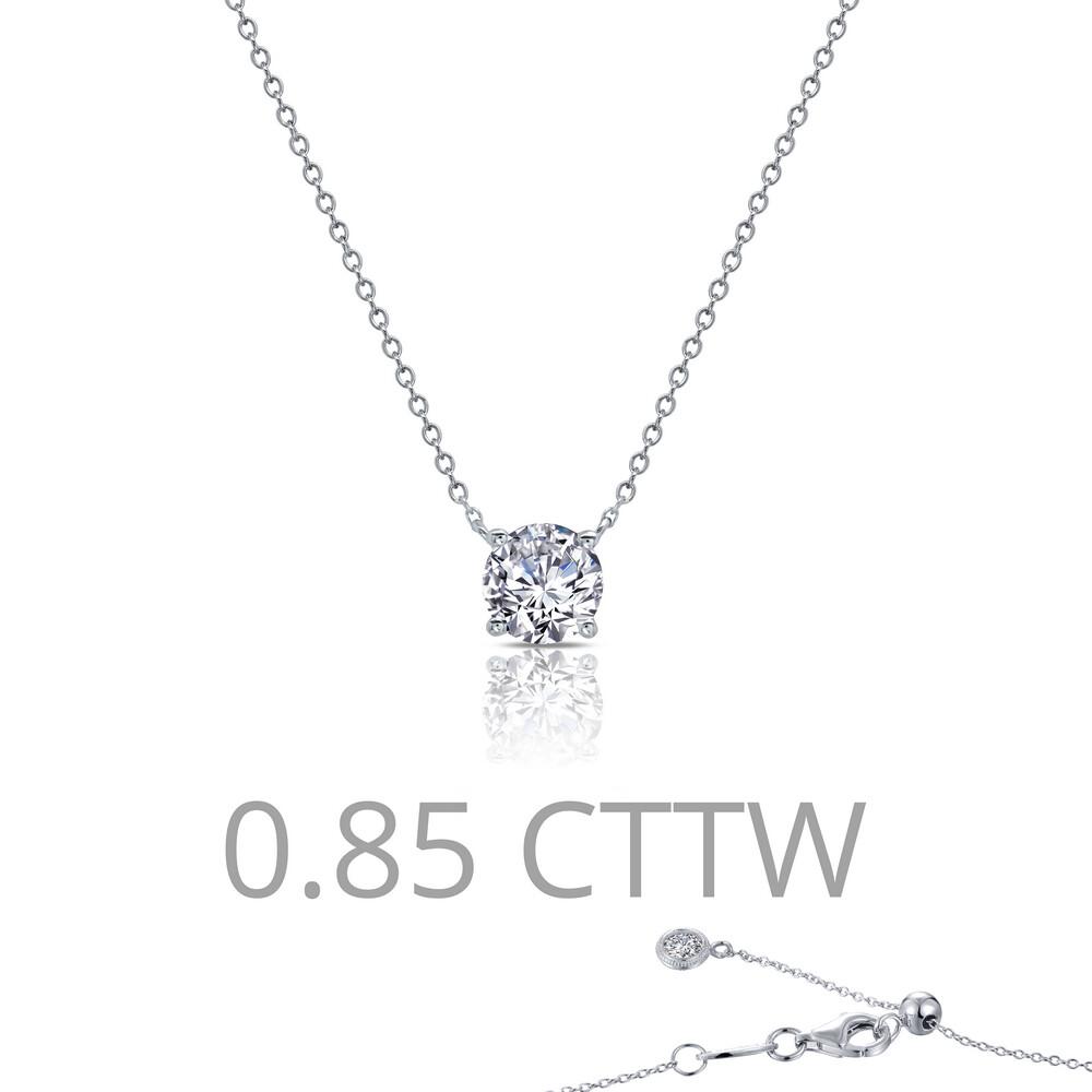 0.85 cttw Solitaire Necklace