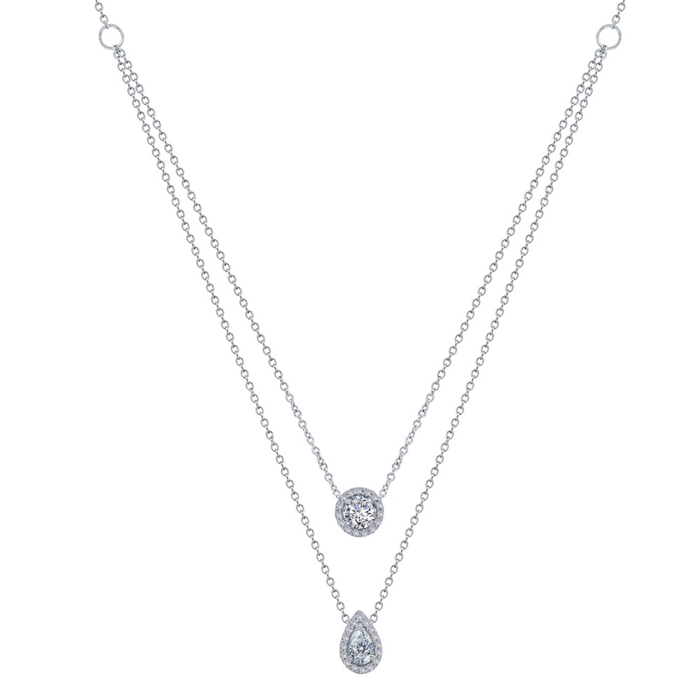 1.11 ct tw 2-Tier Necklace