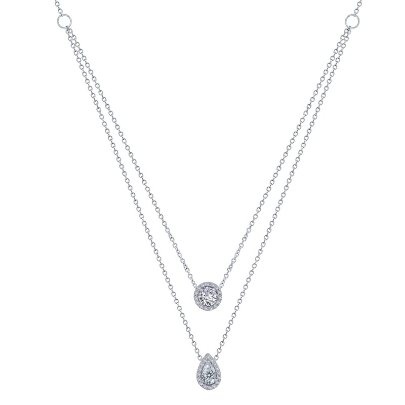 1.11 ct tw 2-Tier Necklace