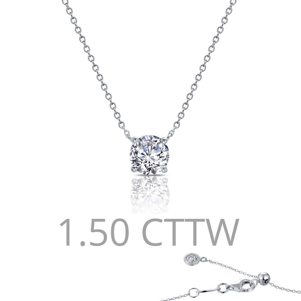 1.5 cttw Solitaire Necklace