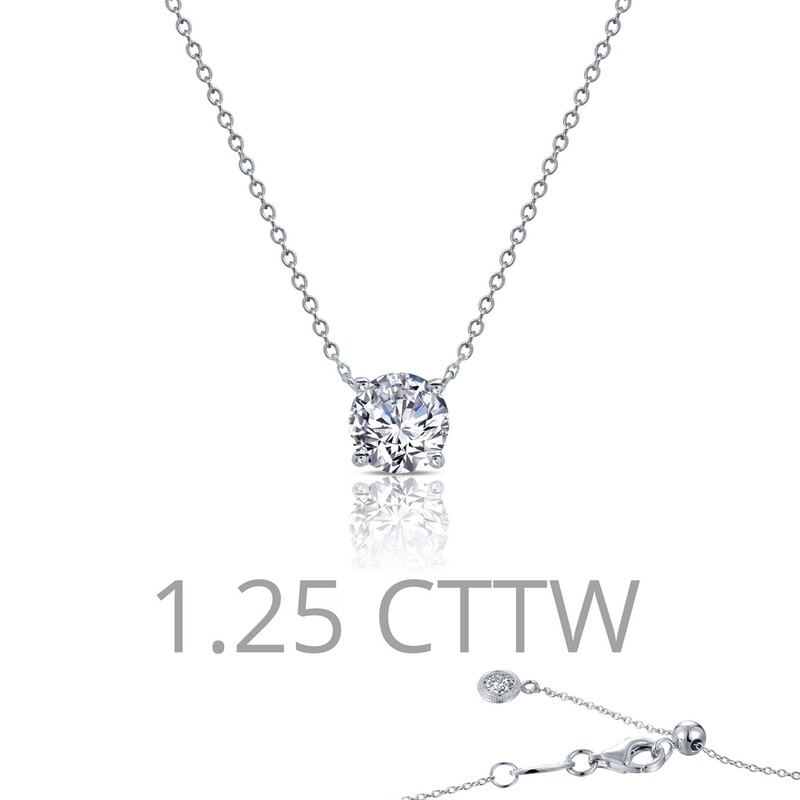 1.25 cttw Solitaire Necklace