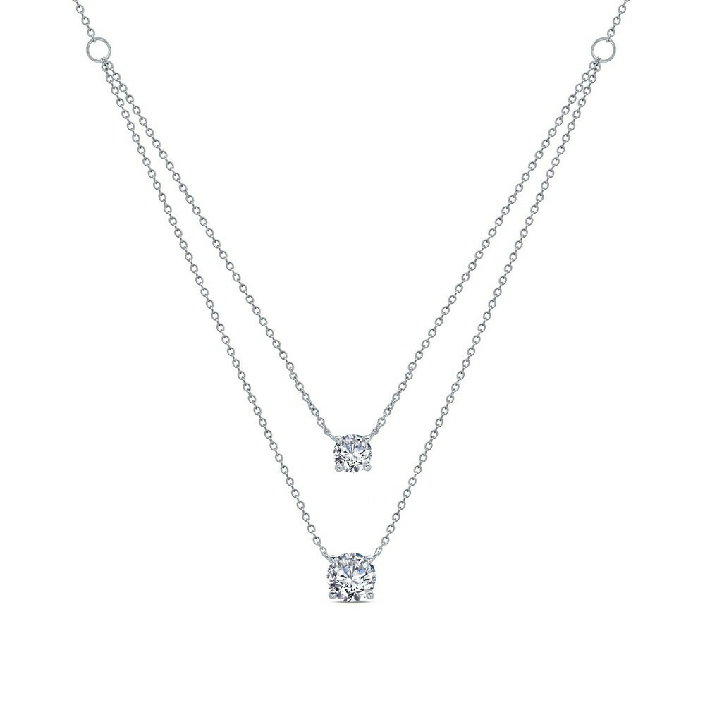 2.19 ct tw 2-Tier Necklace