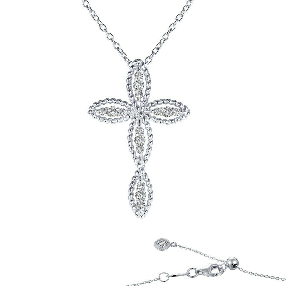 0.3 ct tw Cross Necklace
