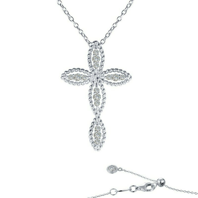 0.3 ct tw Cross Necklace