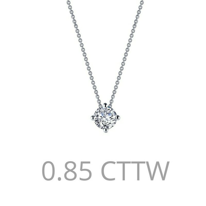 0.85 cttw Solitaire Necklace
