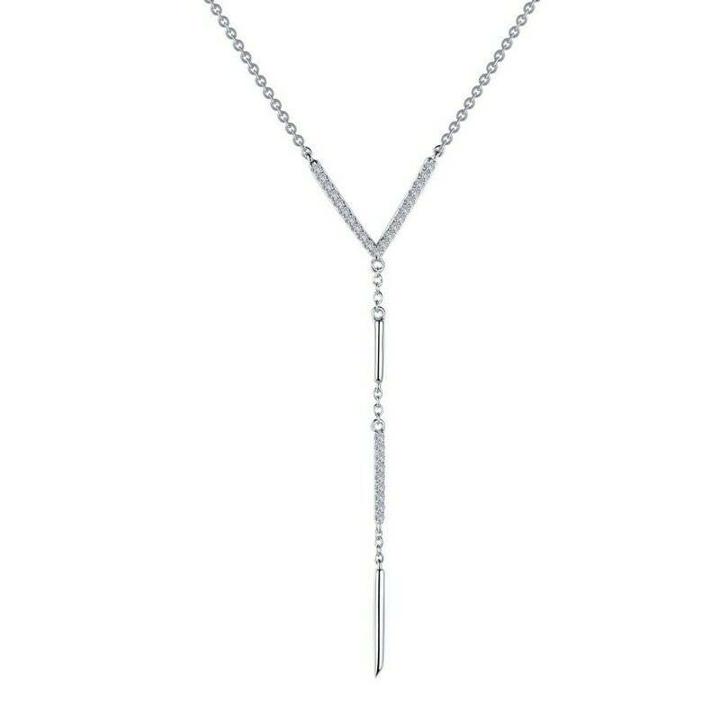 0.55 ct tw V-Drop Necklace