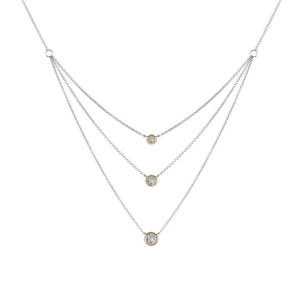 2-Tone Three-Tier Necklace