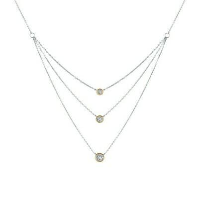 2-Tone Three-Tier Necklace