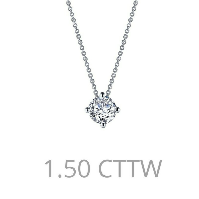 1.5 cttw Solitaire Necklace