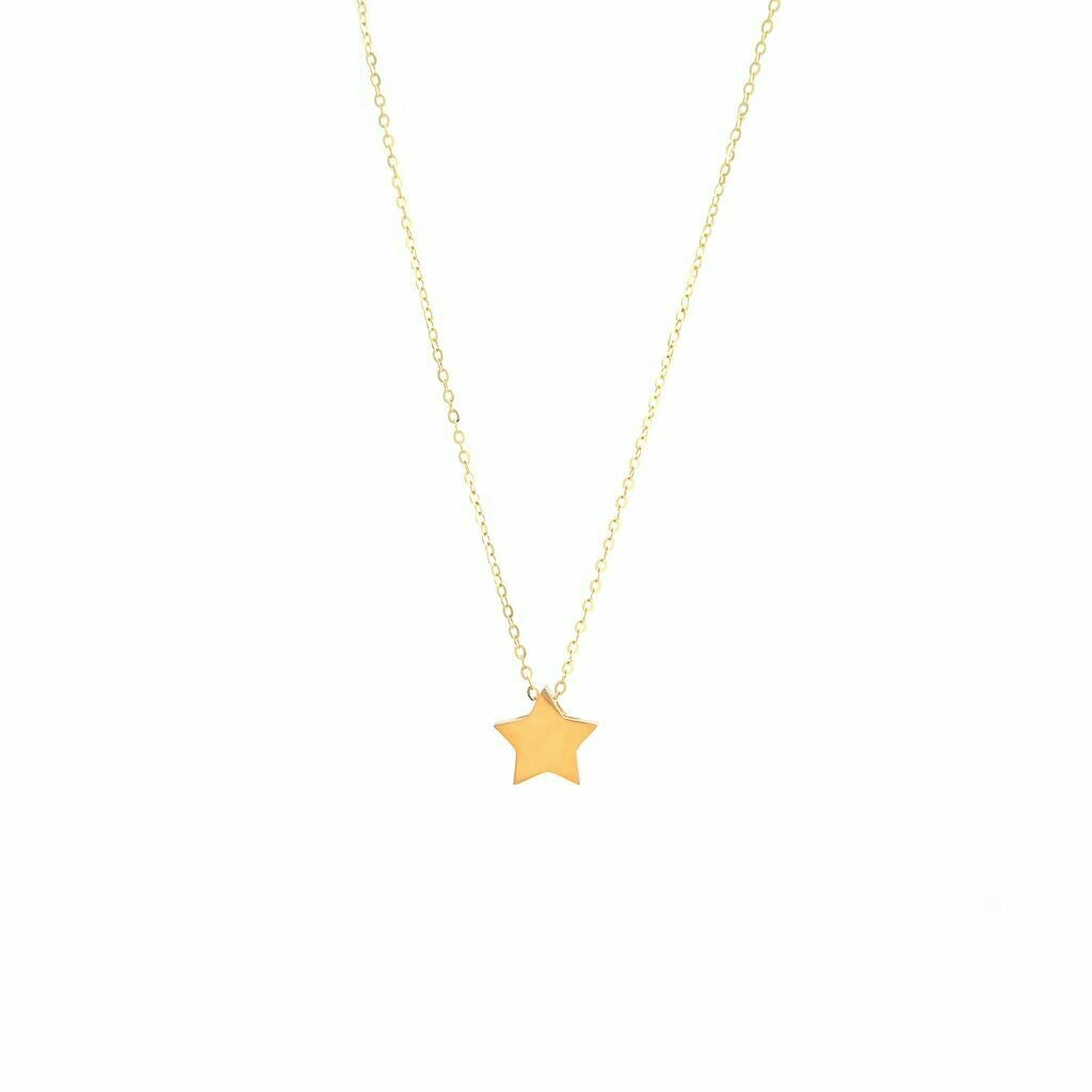 Yellow Gold Star With Necklace