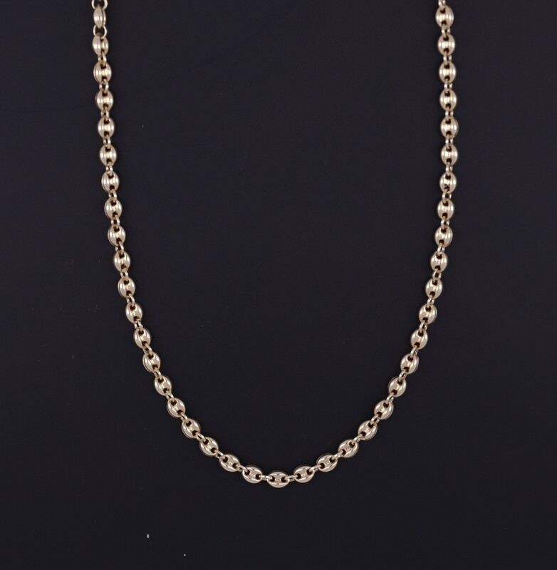 14K Yellow Gold Mariners Link Chain