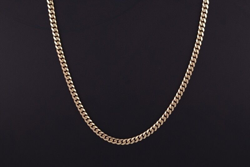 14K Yellow Gold 5mm Cuban Link Chain