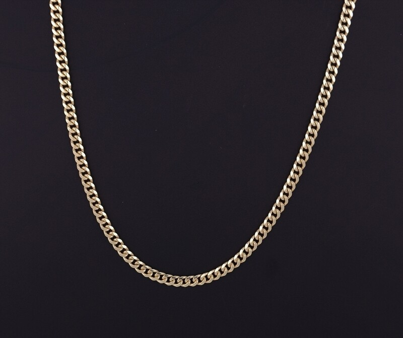 14K Yellow Gold 4.2mm Cuban Link Chain
